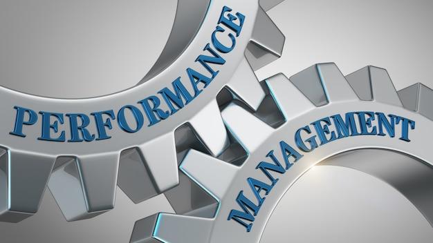 Background di gestione delle prestazioni Foto Premium
