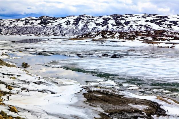 Permafrost nel nord europa, estate, norvegia