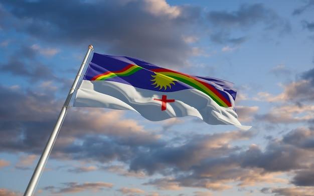 Bandiera dello stato del brasile di pernambuco. grafica 3d