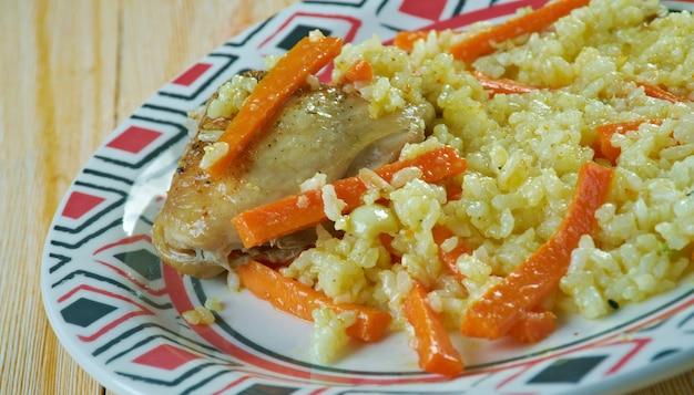 Riso alla carota persiano havij polo