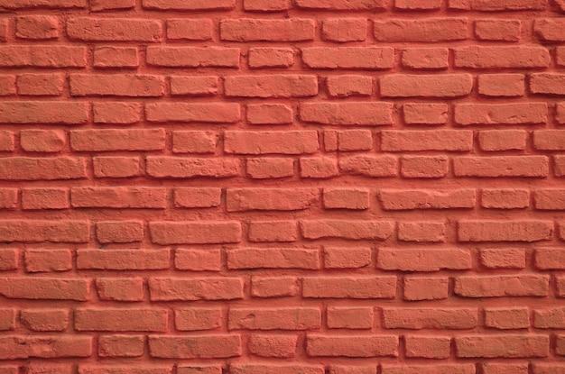 Muro di mattoni vecchio colorato rosso persiano per sfondo