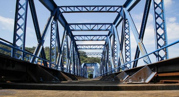 Prospettiva dei binari del treno merci