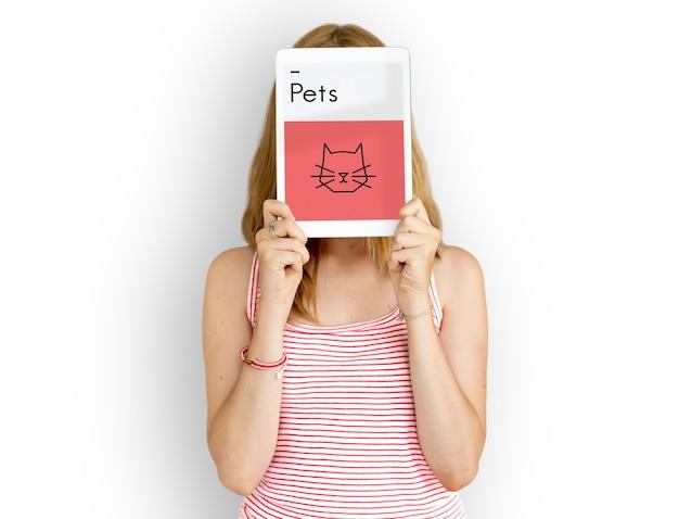 Animali domestici illustrazione simboli icona cat