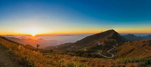 Pha tung mountain, chiang rai, thailandia