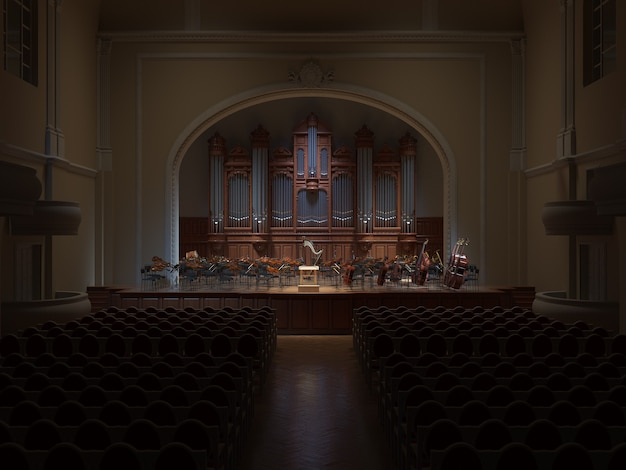 Philarmonie hall orchestra sul palco