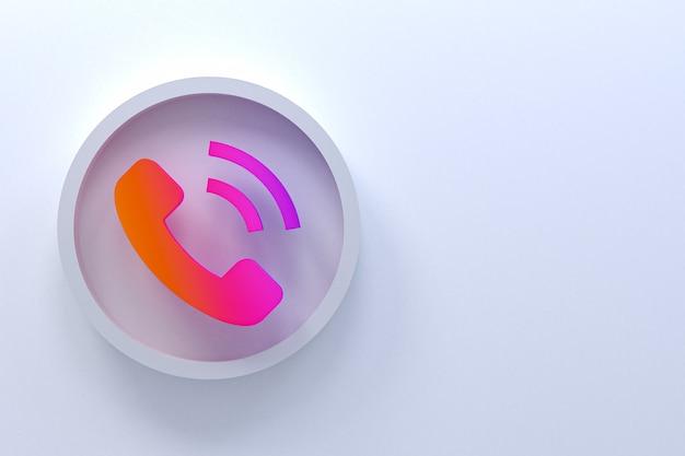 Progettazione 3d di telefonata con lo spazio della copia