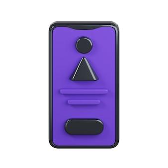 Icona del telefono isolato su bianco