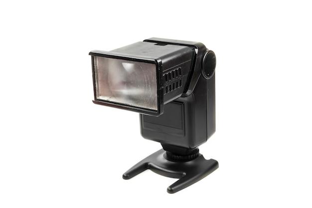 Flash della fotocamera foto su sfondo bianco.