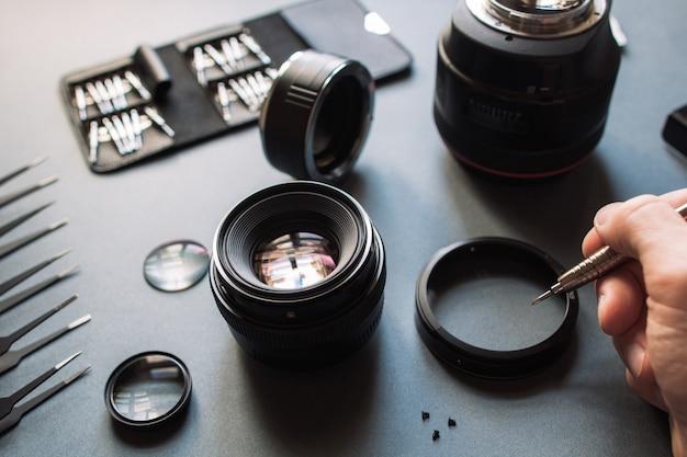 Manutenzione dell'obiettivo della fotocamera