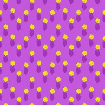 Foto sotto forma di un motivo senza soluzione di continuità. fiore giallo con foglie verdi