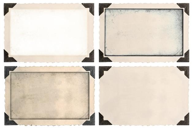 Cornici per foto con angolo e campo vuoto per la tua foto isolato su sfondo bianco