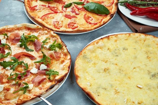 Foto per il menu della pizzeria.