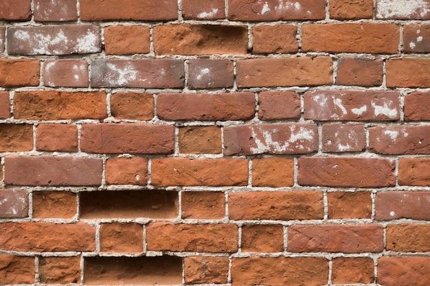 Foto del muro di mattoni rossi
