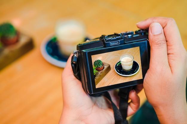 Concetto di workshop di blogging di fotografia.