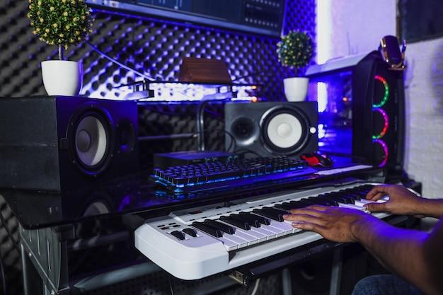 I pianisti stavano registrando in studio