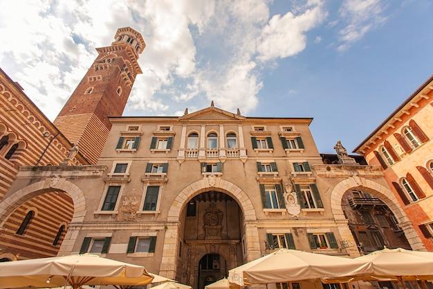 Piazza dei signori, piazza dei signori a verona in italia