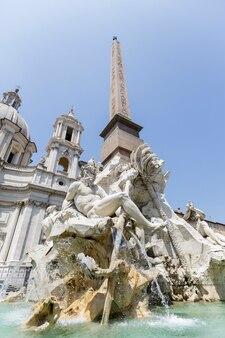 Piazza navona a roma, italia