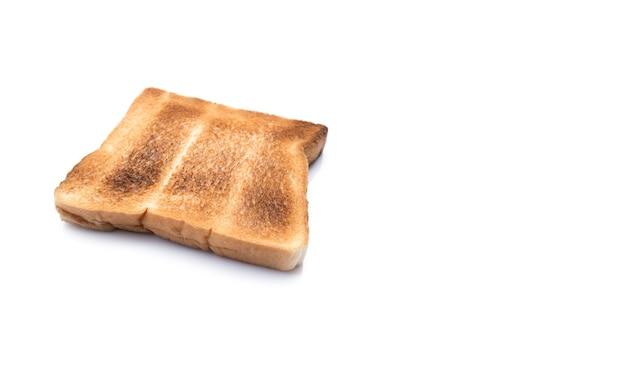Immagine di pane bruciato isolato su sfondo bianco white