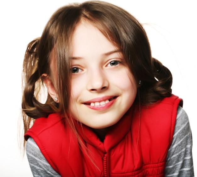 Immagine di una bambina divertente