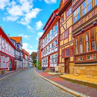 Strada pittoresca nella vecchia città tedesca, germany