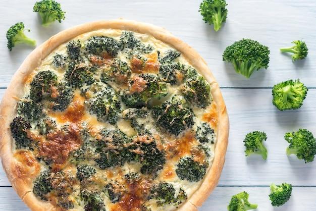 Torta con broccoli e formaggio