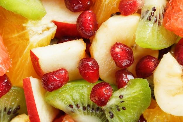 Pezzi di primo piano della frutta tagliata