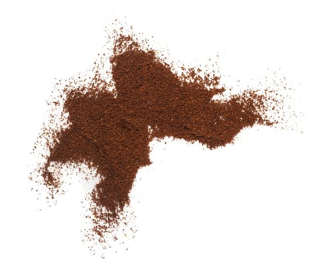Un mucchio di motivi di caffè isolati