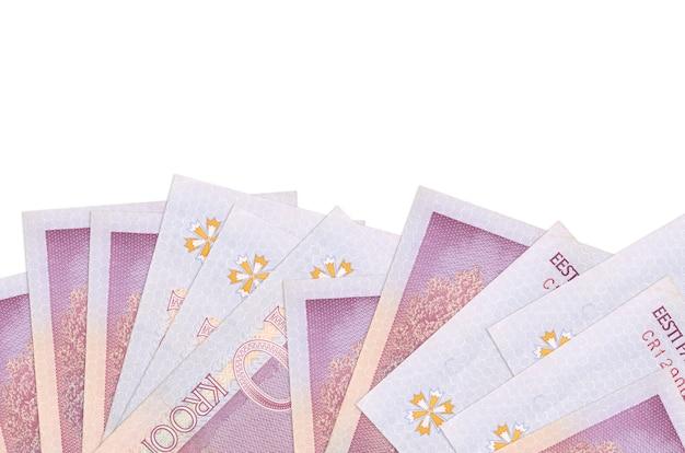 Pila di banconote in corone estoni