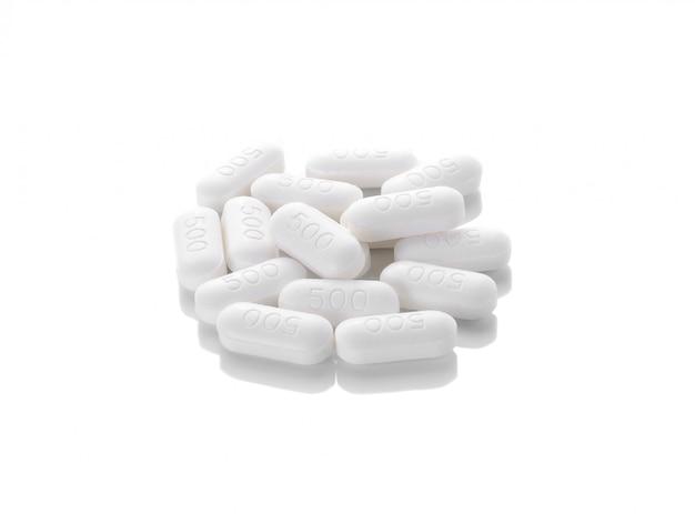 Pillola su uno spazio bianco