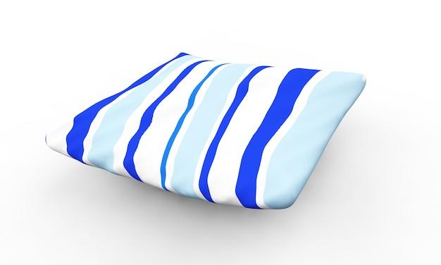 Cuscino isolato su uno sfondo bianco rendering 3d