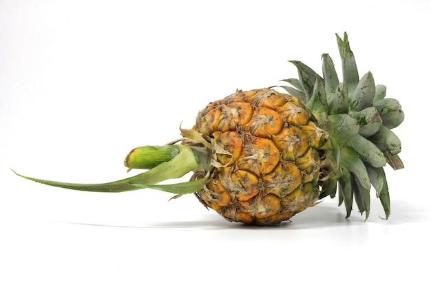 Ananas su uno sfondo bianco.