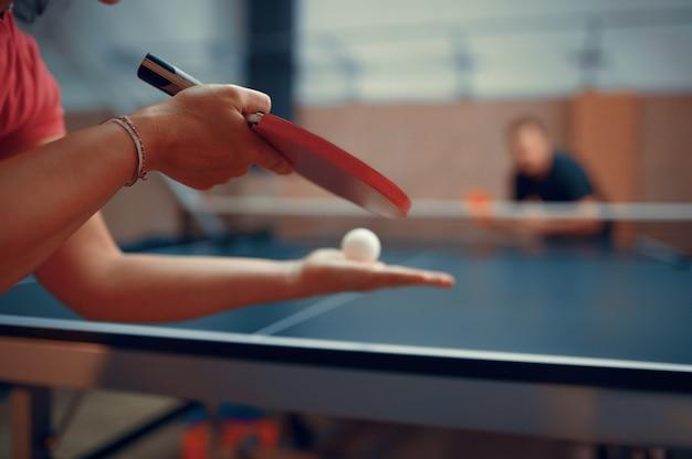 Giocatori di ping pong