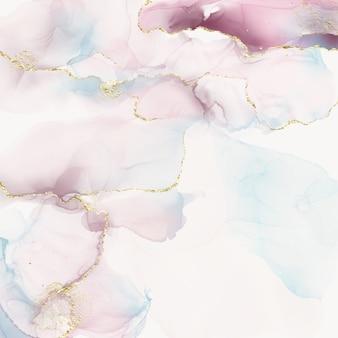 Struttura in marmo rosa e beige con striature dorate