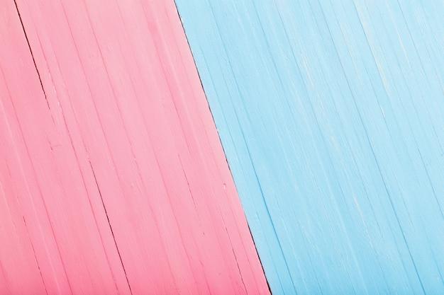 Sfondo di legno rosa e blu