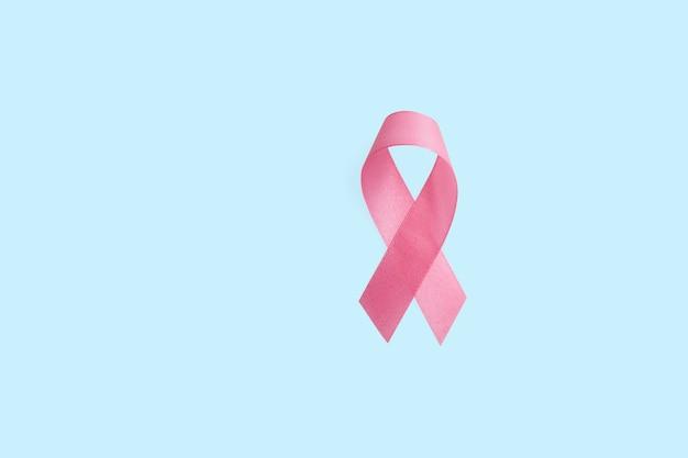 Nastro rosa del cancro al seno. giornata mondiale del cancro al seno