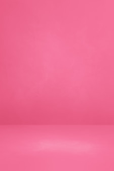 Sfondo interno cemento rosa. scena modello vuoto
