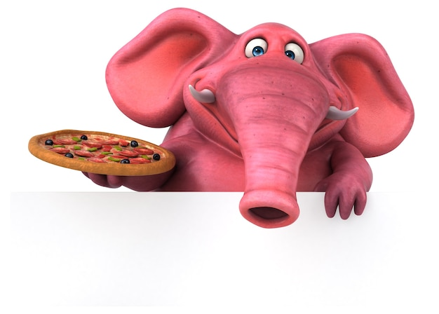 Elefante rosa - illustrazione 3d