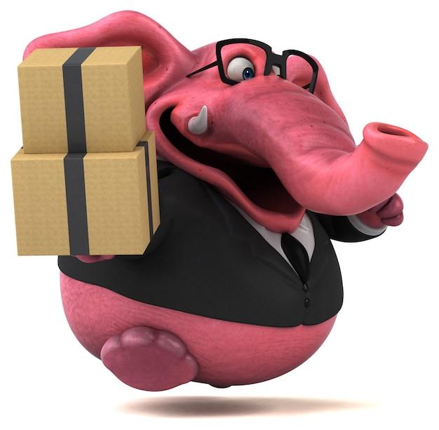 Illustrazione di elefante rosa