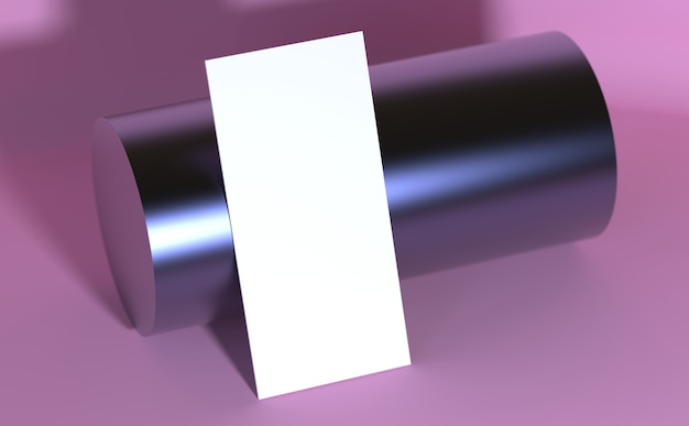 Modello di rendering 3d del modello di carta di moda rosa per l'industria della bellezza