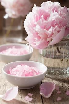 Peonia rosa sale floreale per spa e aromaterapia