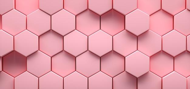 Fondo astratto esagonale geometrico rosa