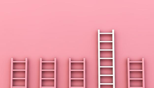 Collezione di scale rosa