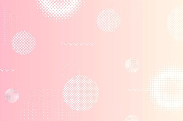 Sfondo rosa con motivo in stile memphis