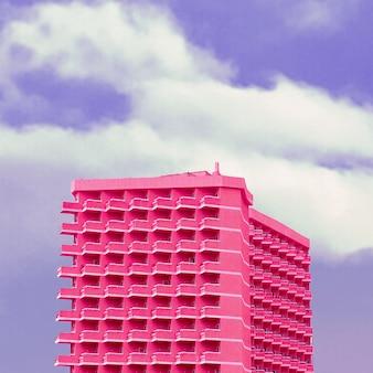 Sogni minimi rosa. arte rosa dell'hotel