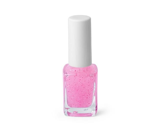Smalto rosa su sfondo bianco