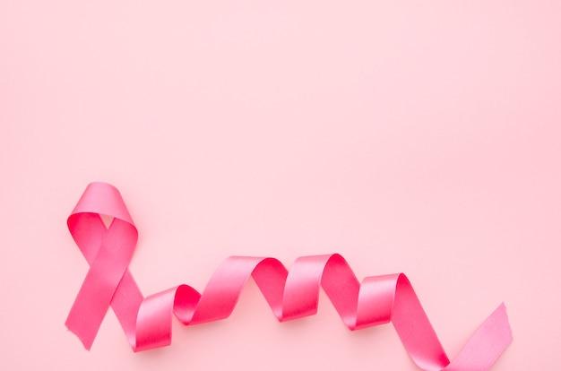 Nastro rosa per la consapevolezza del cancro al seno Foto Premium
