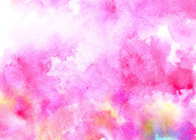 Sfondo acquerello rosa con macchie colorate