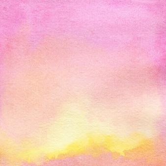 Sfondo acquerello rosa con macchie puntini cerchi sfocatiillustrazione disegnata a mano ad acquerello