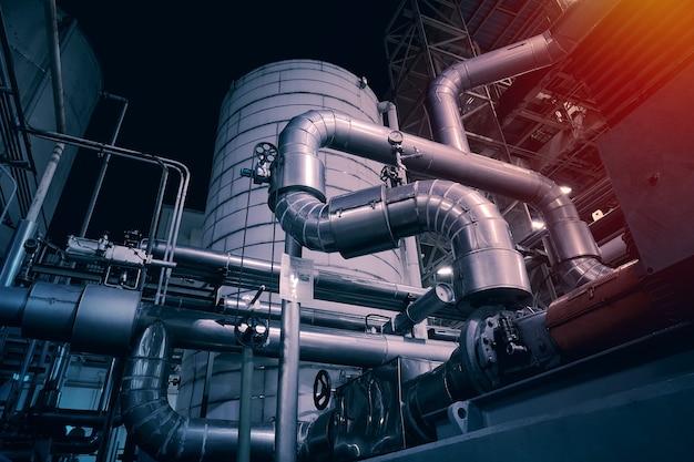 Pipeline e attrezzature nell'industria petrolchimica