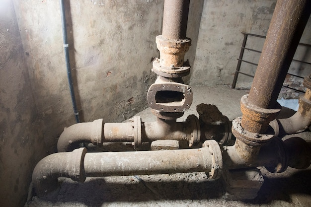 Tubi della vecchia torre dell'acqua